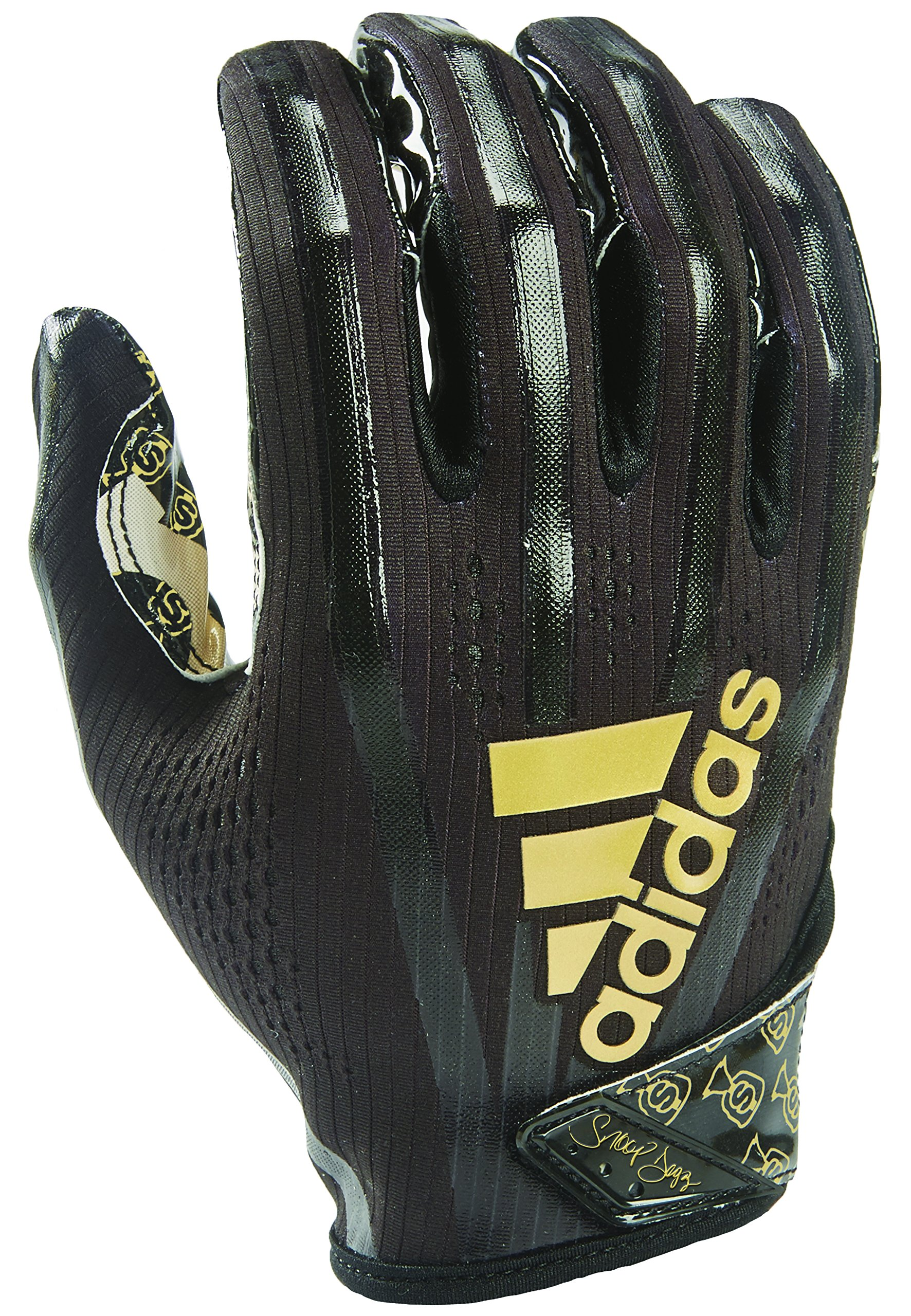 adidas AF1006 Adizero 7.0 Snoop Money Bag Receiver's Gloves, Black, Small