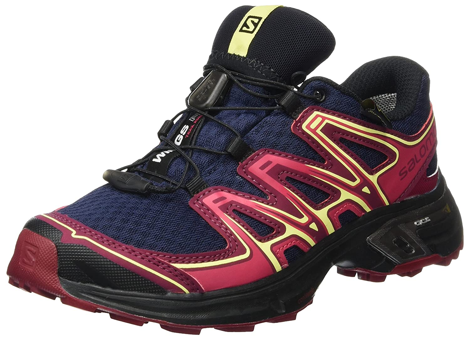 Salomon Femme Wings Flyte 2 GTX Chaussures de Course à Pied et Trail Running - Bleu (Evening Blue/Beet Red/Sunny Lime)