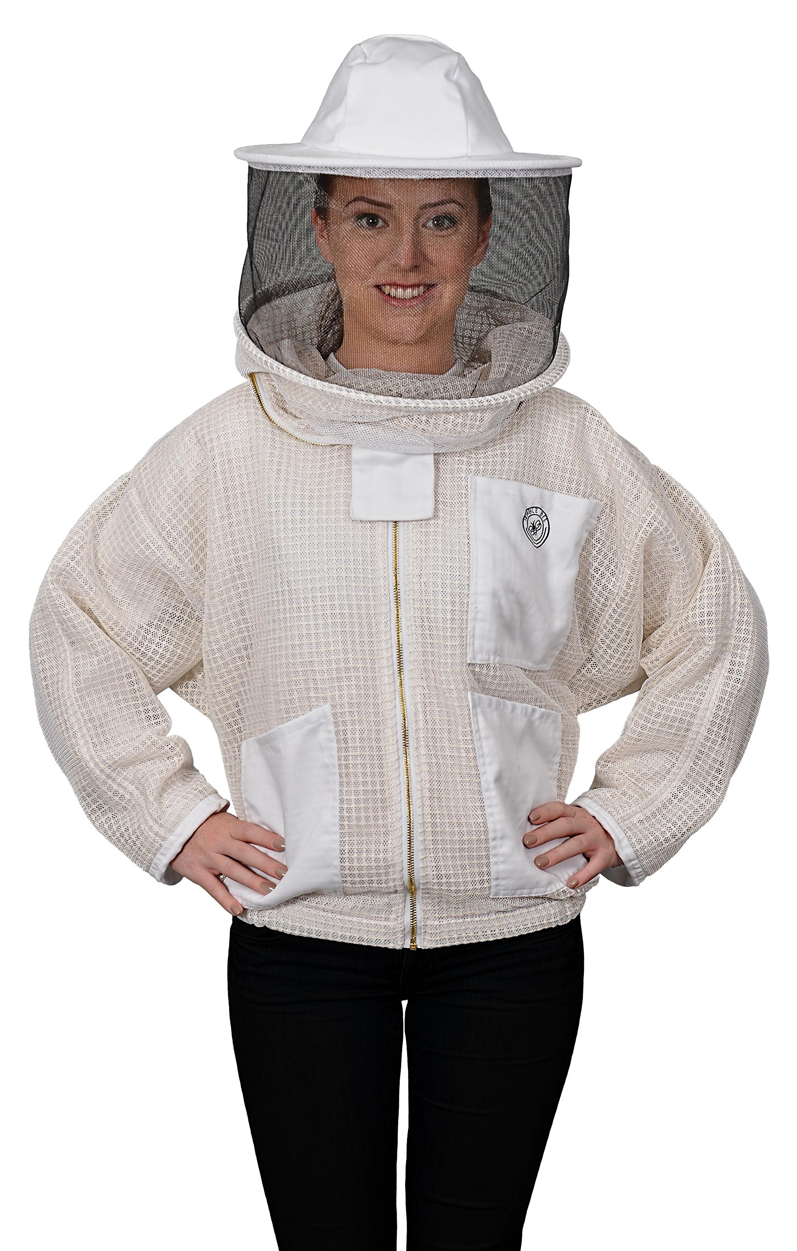 Humble Bee 320-L Aerated Beekeeping Jacket with Round Veil (Large) by Humble Bee