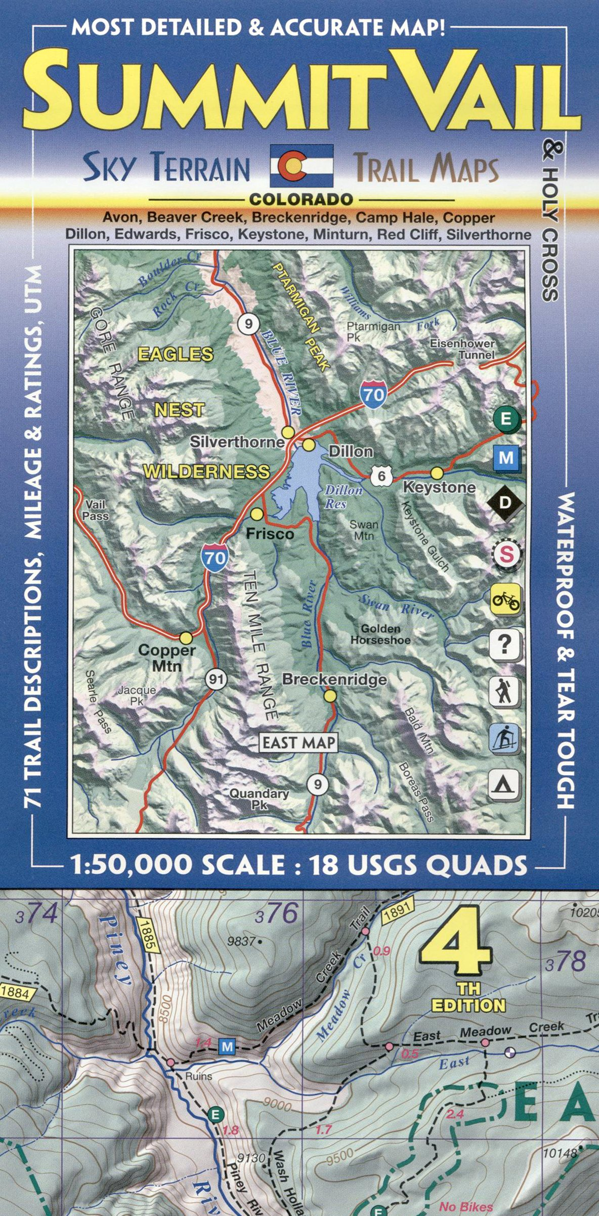 Summit, Vail & Holy Cross Trail Map 4th Edition: Sky Terrain, Kent ...
