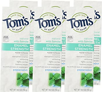 6-Pack Tom's of Maine Enamel Peppermint Toothpaste (4.0 oz)