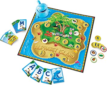 Learning Resources Alphabet Island - Juego de Cartas de ...