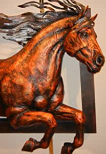 iUniqueArt Giant 3D Horse Profile Leaping Out of Frame