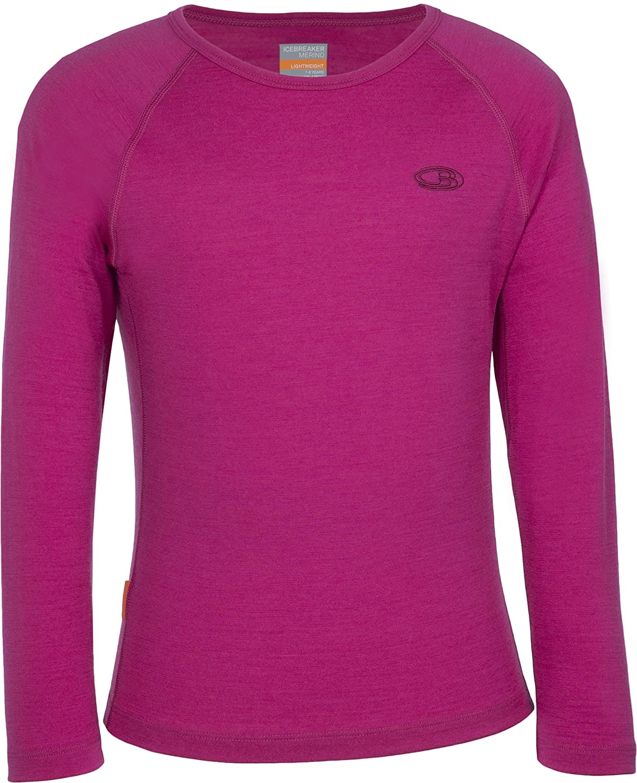 Icebreaker Shirt Unterhemd Langarm Kids Oasis Long Sleeve Crewe Top Interior t/érmico para ni/ño