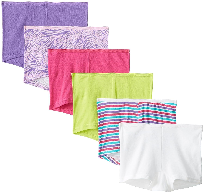Assorted Pack of 6 Hanes Womens Boyshort Panty