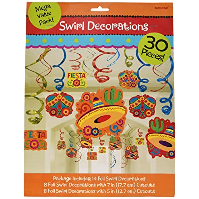 Cinco De Mayo Fiesta Foil Swirls Mega Value Pack | Party Decoration: Kitchen & Dining