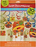 "Fun-filled Fiesta Cinco de Mayo Party Foil Swirl Decoration, 30 Pieces, Foil, 8 Swirls w/Paper Cutouts, 7"" 8 Swirls w/Paper Cutouts, 5"" by Amscan"