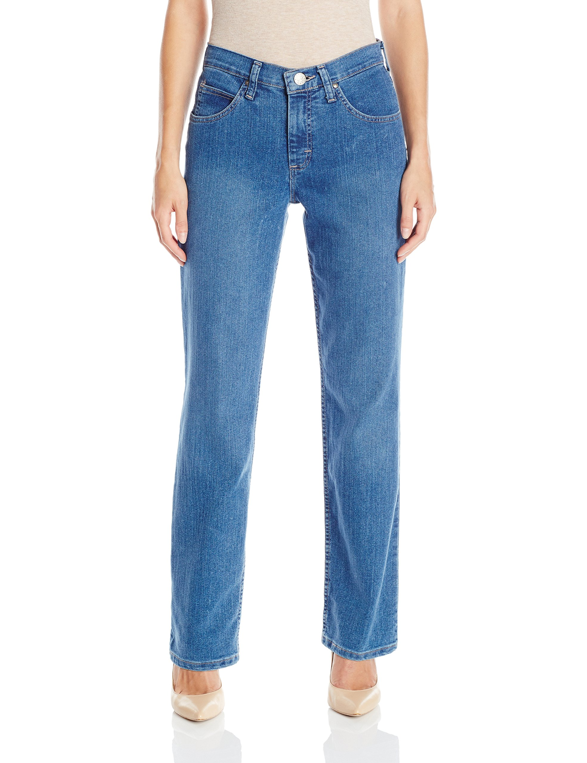 Riders by Lee Indigo Women's Classic-Fit Straight-Leg Jean, Light, 14 by Riders by Lee Indigo (Image #1)