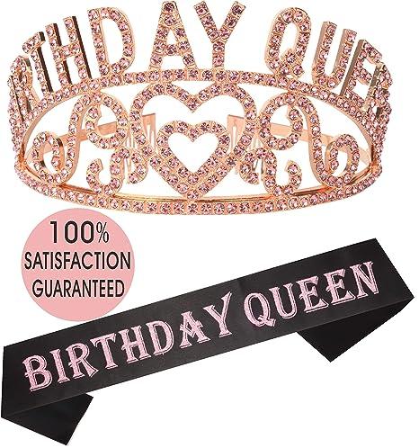 Birthday Girl Sash And Tiara Pink