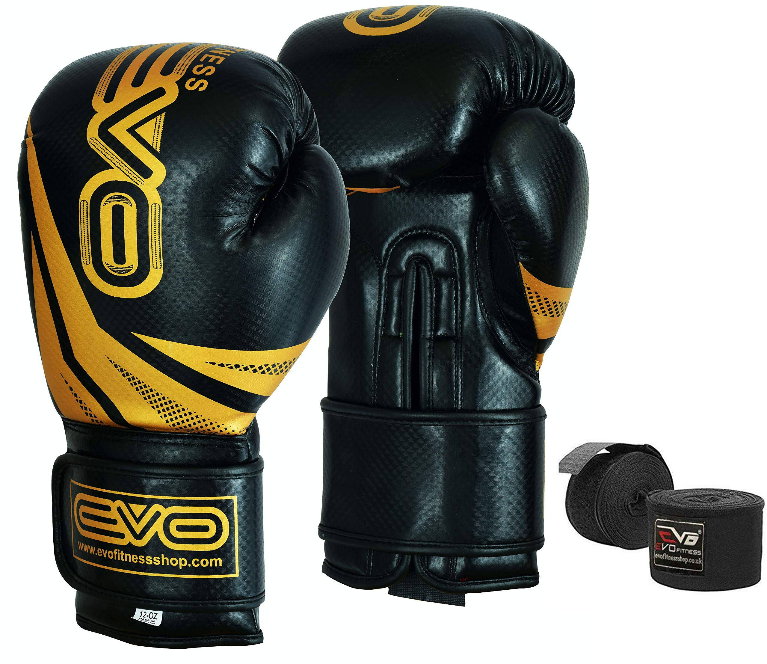 Rex Leather Boxing Gloves Muay Thai Grappling Pads Kick Fight Punch Bag MMA 12oz