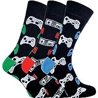Calcetines de videojuegos de novedad funky para juegos retro para hombre 6-11   3 pares   Calcetín Snob