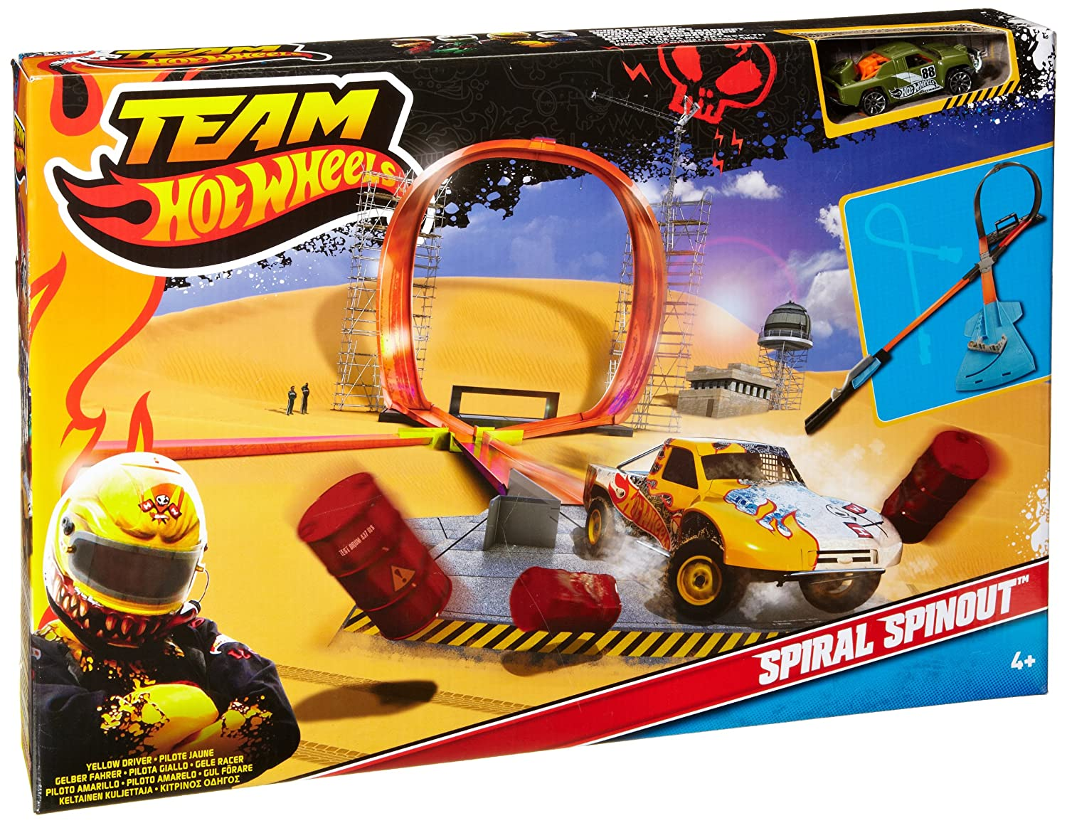 Amazoncom Team Hot Wheels Spiral Spinout Toys Games