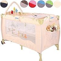 KIDUKU® Lit Bébé parapluie Lit pliant pour enfant Lit de voyage Lit d'enfant Lit pour nouveaux nés Lit pliant Lit d'appoint, niveau de couchage réglable pour nouveaux nés, 6 couleurs différentes, maniable