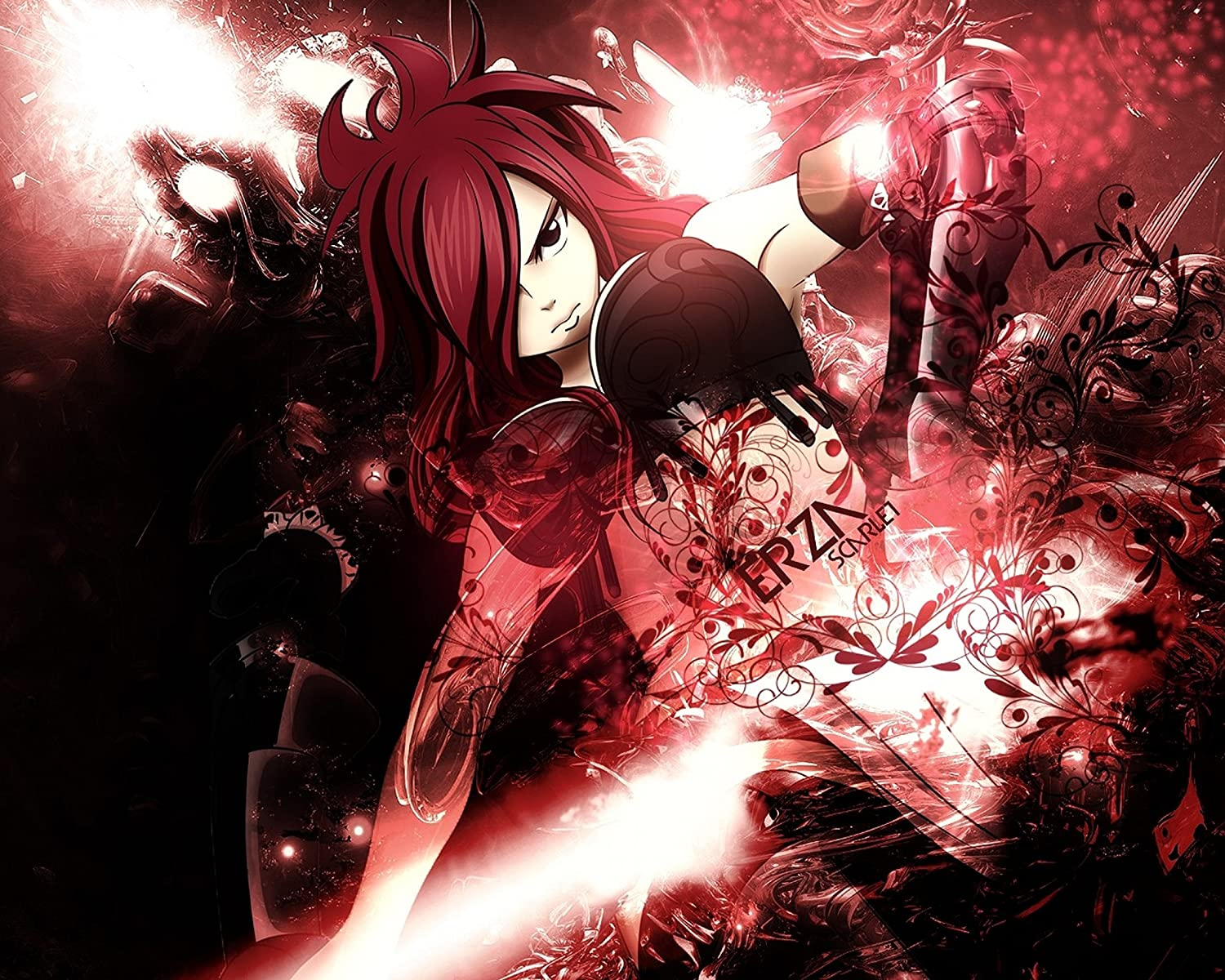 "Fairy Tail Erza Cartoon 36/"" x 24/"" Large Wall Poster Print Anime Decor Gift"