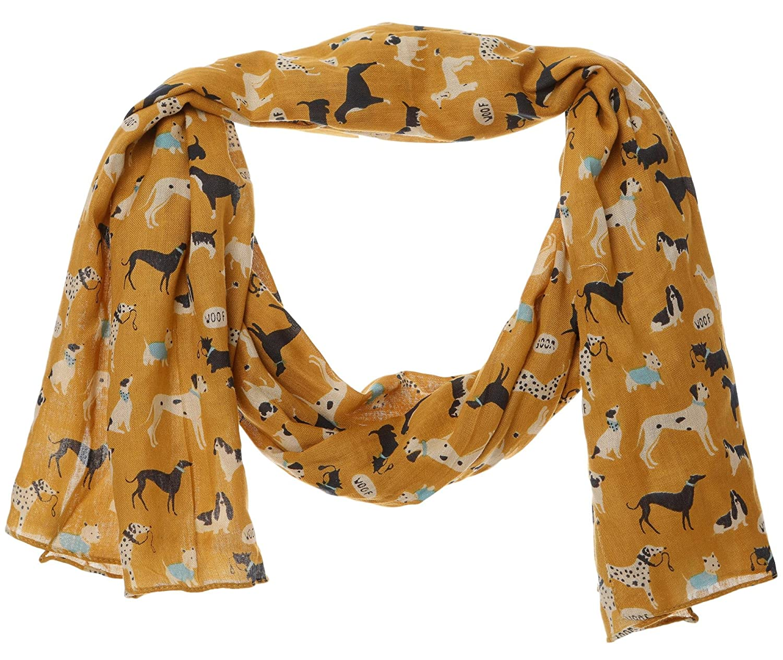 Dog Whippet Greyhound Print Women Ladies Scarf Fashion Shawl Cotton Wrap Quality