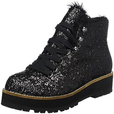 Buffalo Shoes Damen 15B69-1 Glitter Stiefel, Schwarz (Black 01), 42 ... 59c492eb60