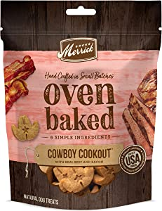 Merrick Oven Baked Natural Crunchy Dog Treats Crafted in The USA