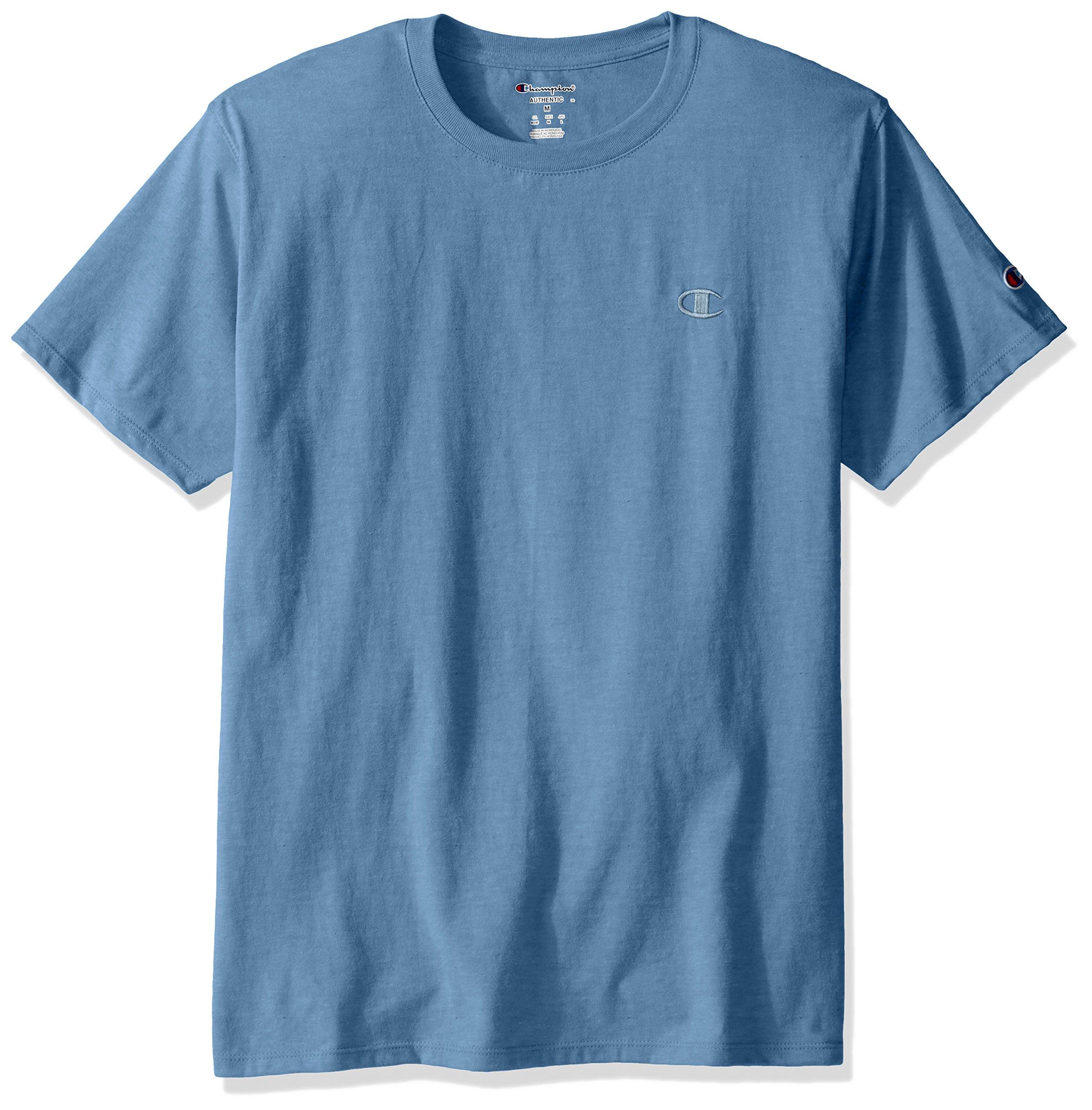 f1a92cc19a72 Galleon - Champion Men's Classic Jersey T-Shirt, Swiss Blue, M
