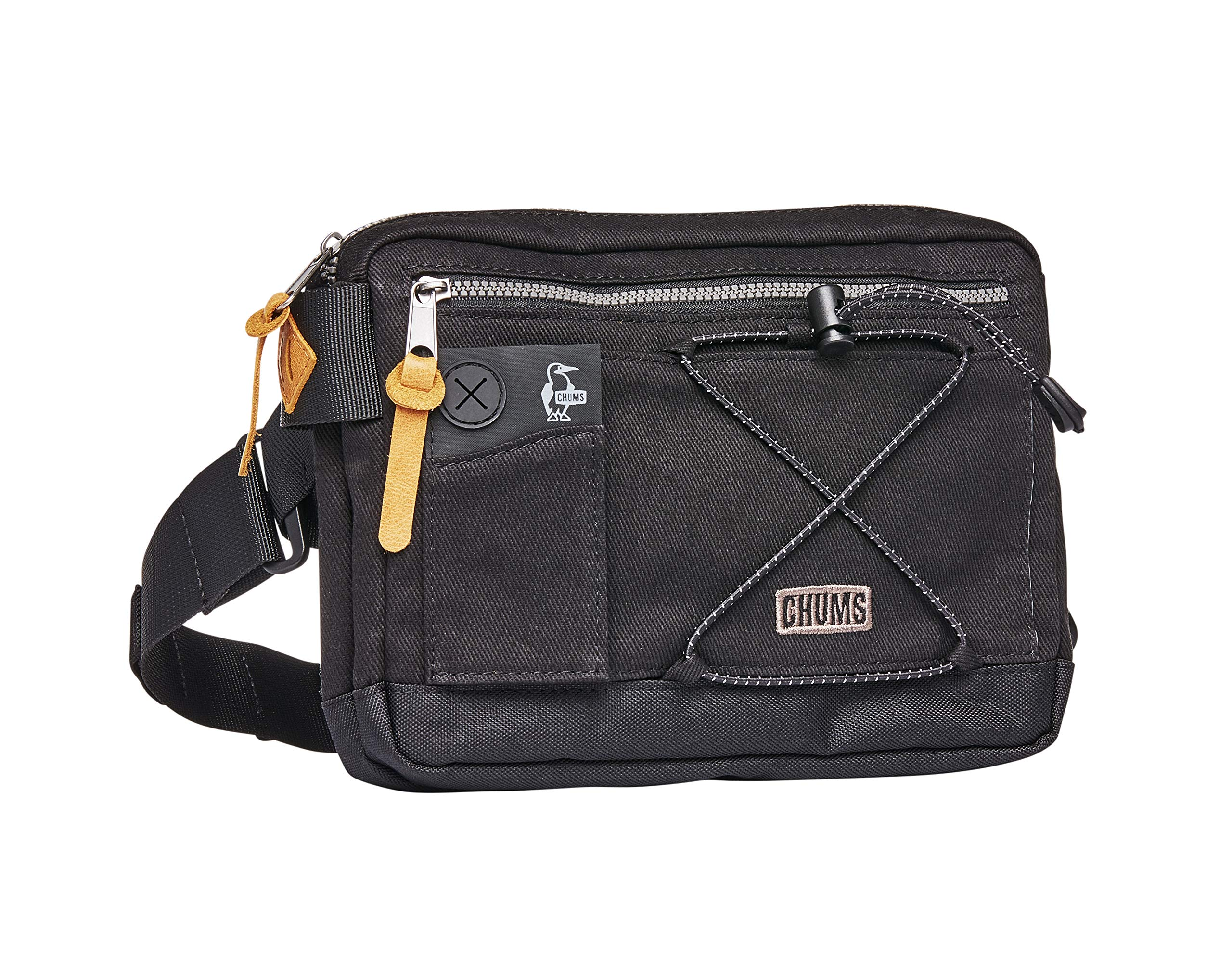 Chums Scrambler Reflective Waist Pack Shoulder Bag, Black, One Size by Chums