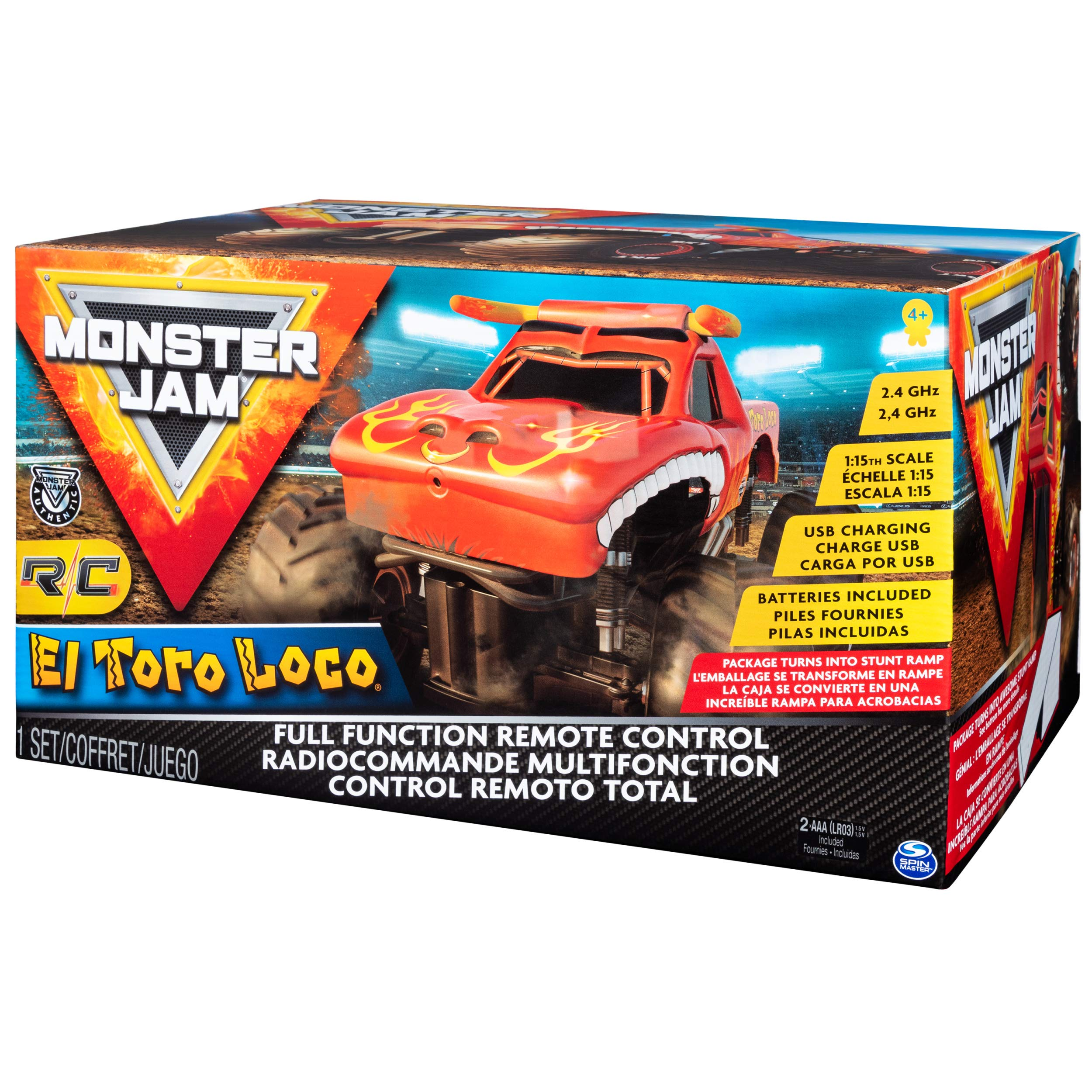Monster Jam Official El Toro Loco Remote Control Monster Truck, 1:15 Scale, 2.4 GHz by Monster Jam (Image #8)
