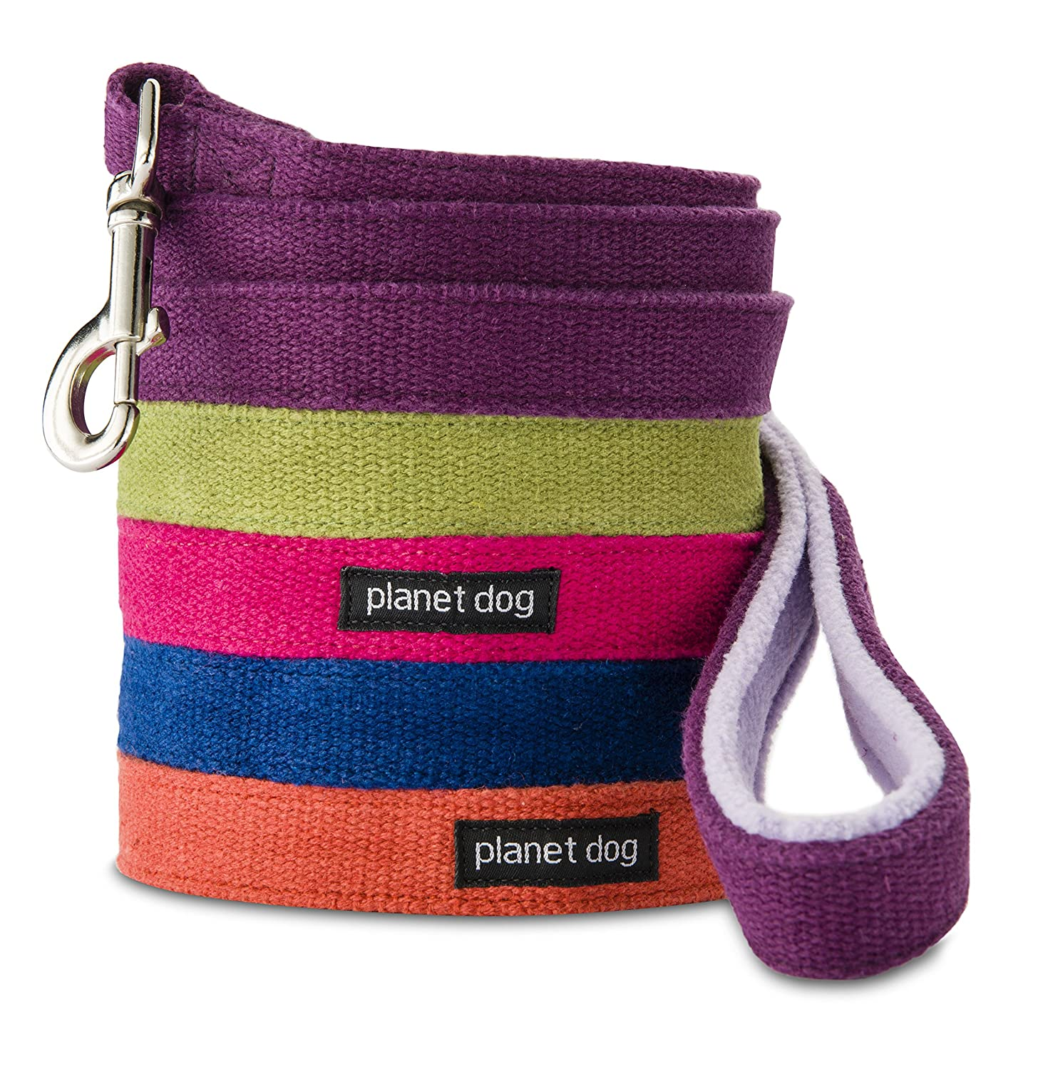 Planet Dog 5 Foot Natural Hemp Dog Leash with Fleece Lined Handle Pink