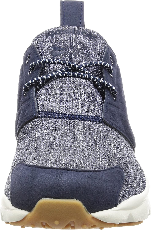 Reebok Herren Furylite Refine Sneaker Grau Collegiate Navy Chalk Gum