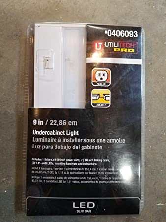 utilitech pro undercabinet led light slim bar 9 0406093