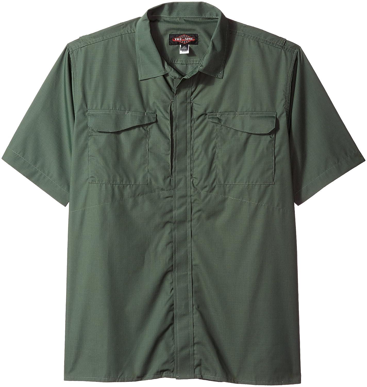 TRU-SPEC 24-7 1045002 Mens Ultralight Short Sleeve Uniform Shirt Black X-Small Polyester Cotton Rip-Stop