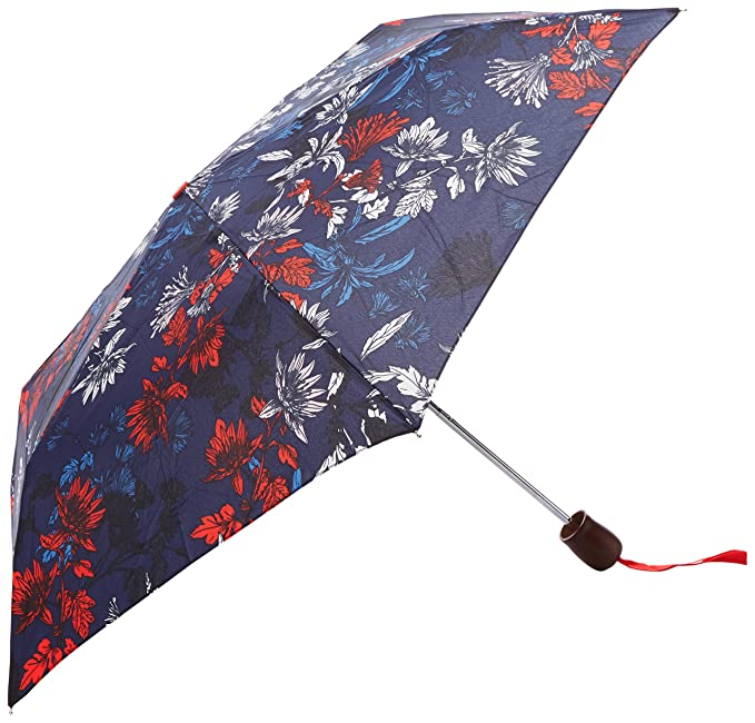 Joules Brolly, Paraguas para Mujer, Azul (French Navy Fay Floral FNVFAYF),