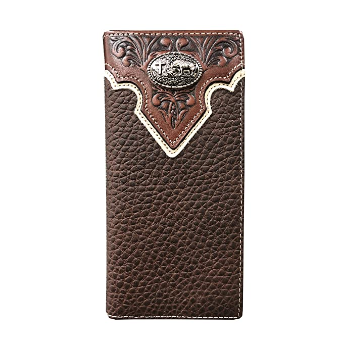 Amazon.com: Billetera de piel auténtica para hombre, estilo ...