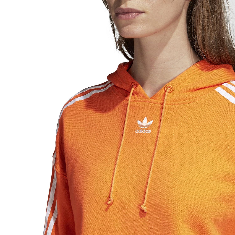 XL Bahia Orange adidas Originals Womens Cropped Hoodie