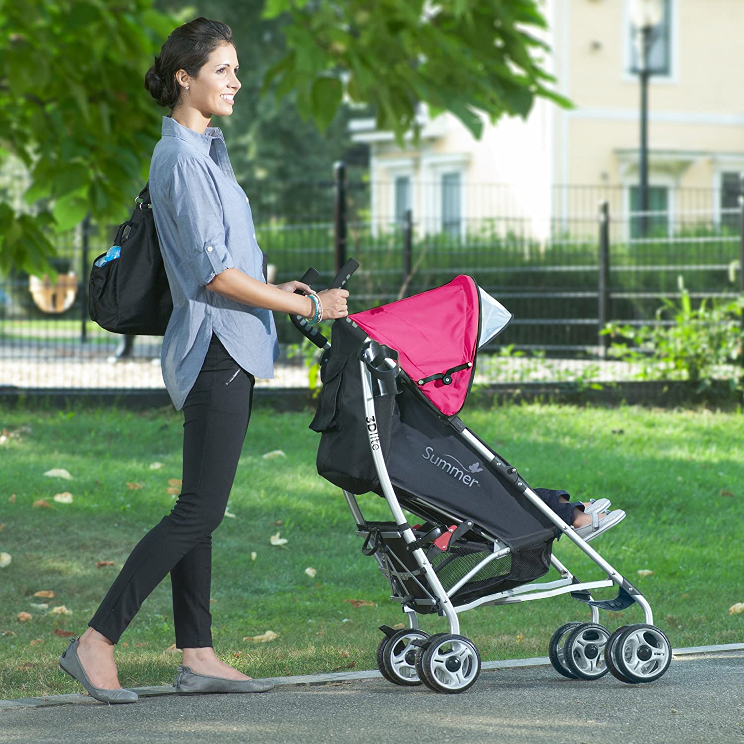 Summer Infant 2014 3D Lite Convenience Stroller Discontinued by Manufacturer Hibiscus Pink