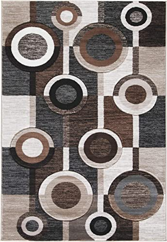 Signature Design by Ashley Guintte Large Rug, Black Brown Cream