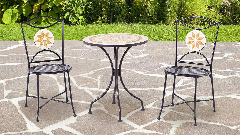 Amazon Com Backyard Classics Ashland 3 Piece Mosaic Patio Set With