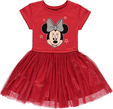 d87c0912 Minnie Mouse Girls' Tutu Dress with Tulle Skirt - Disney