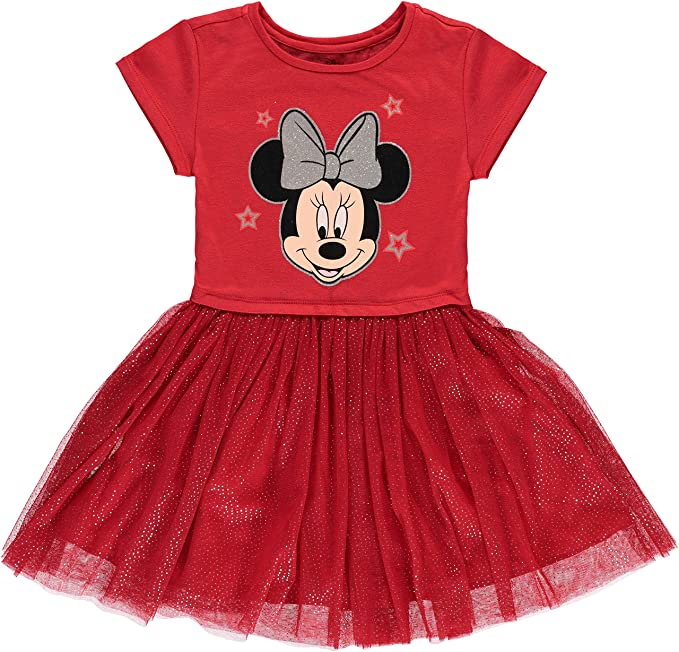 f4ad694f42859 Amazon.com: Disney Girls' Minnie Mouse Tutu Dress with Tulle Skirt ...