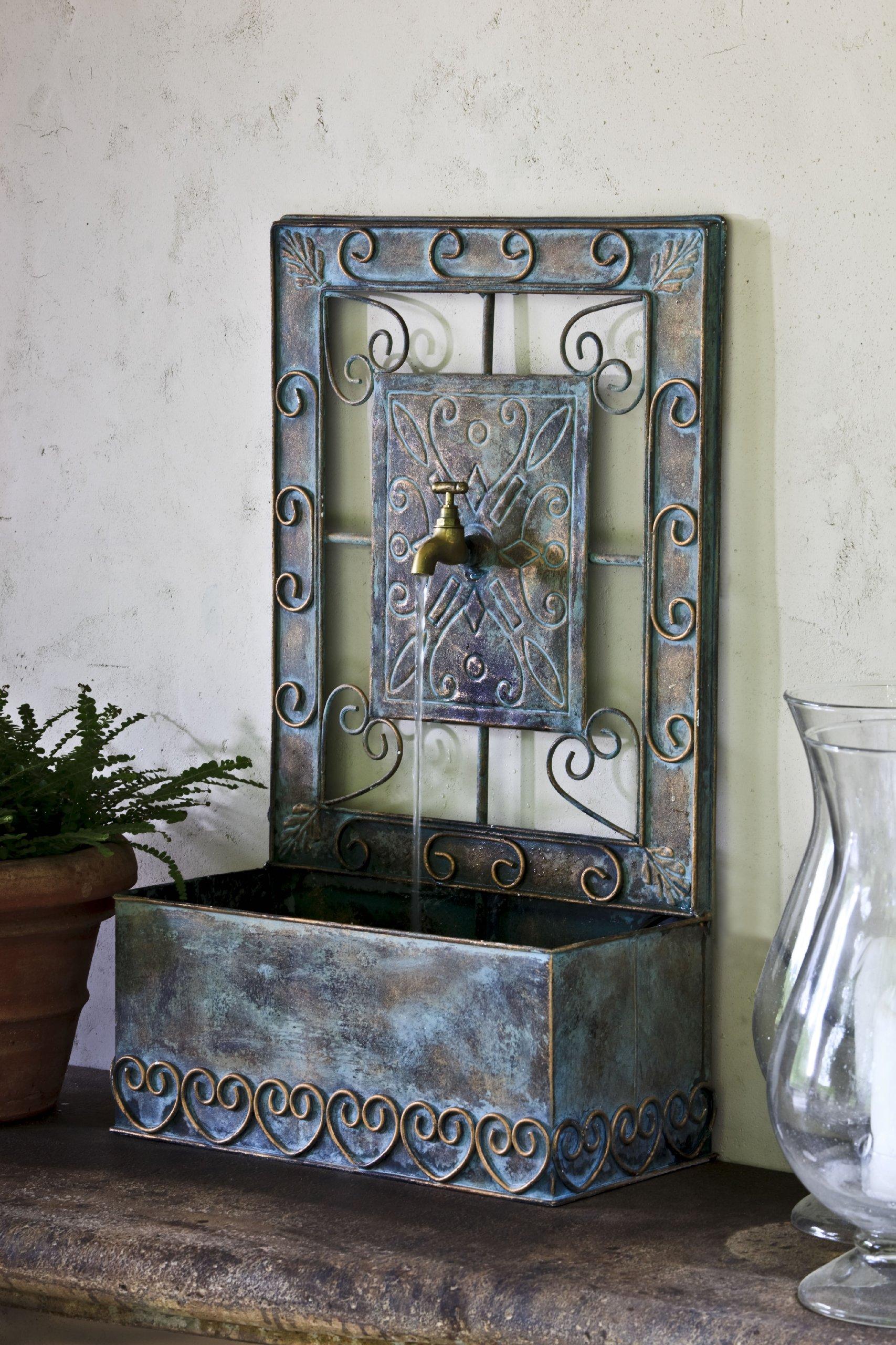 Montera Wall Fountain in Antique Copper
