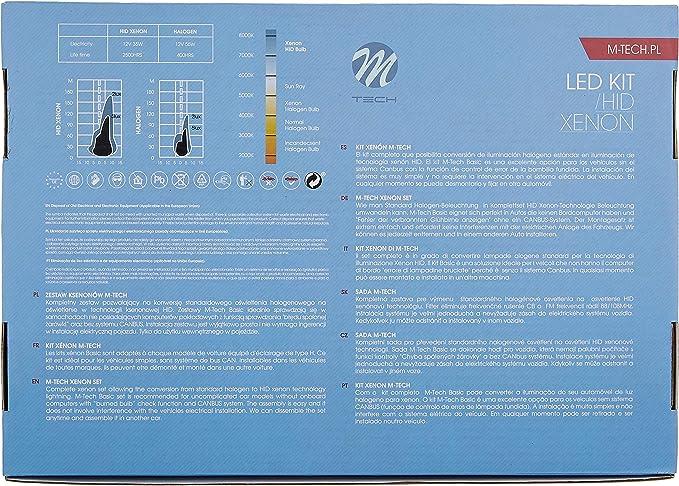 Tech Kdcmph712 Kit Xenon Basico H7 12000 K Auto