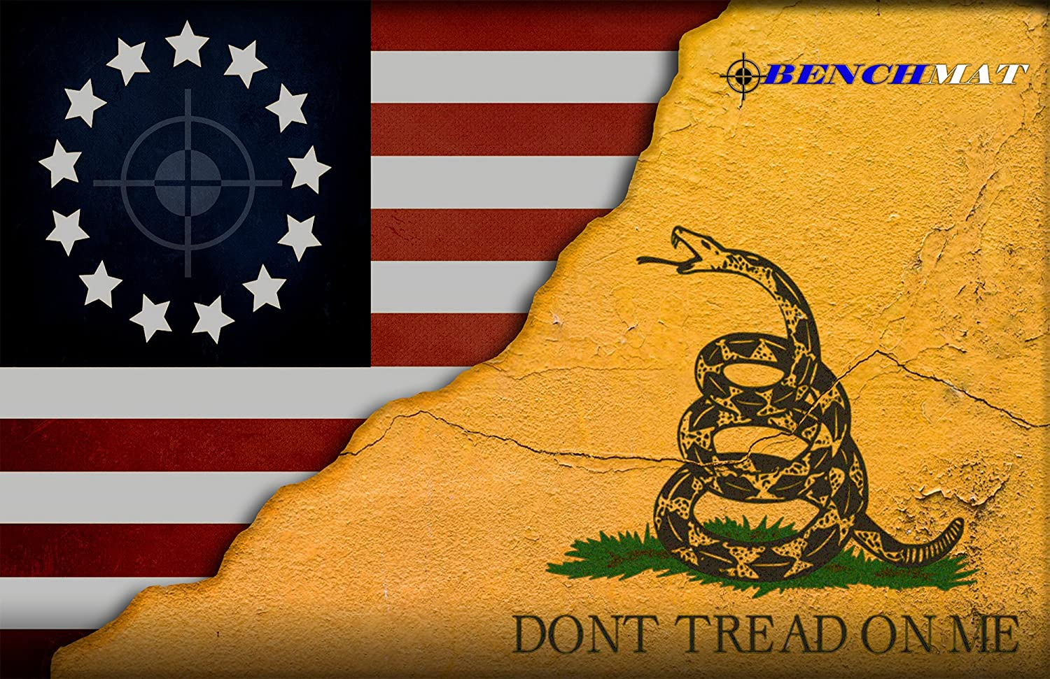 Bench Mat Don'T Tread auf mir Gadsden Colonial American Flag Pistole Cleaning Mat