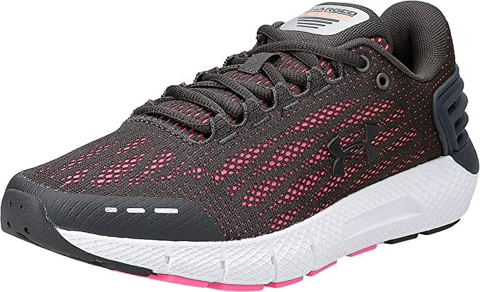 Under Armour Charged Rogue Sneakers Laufschuhe Damen Grau/Rosa