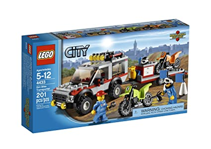 Amazon.com: LEGO City Town Dirt Bike Transporter 4433: Toys & Games