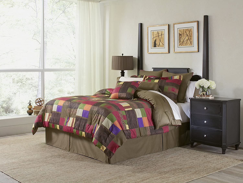 Pointehaven 8-Piece 100-Percent Cotton Luxury Bedding Ensemble, Marrakesh, Full