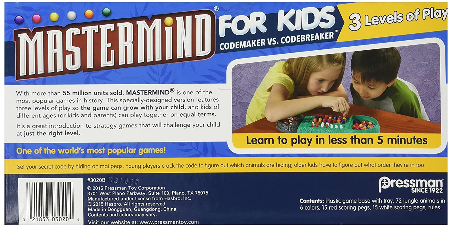 Game order colors - Amazon Com Mastermind For Kids Codebreaking Game Plays On Three Levels Toys Games