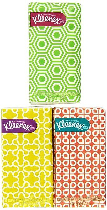 Designer pocket packs facial tissues