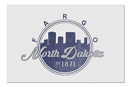 Amazoncom Fargo North Dakota Skyline Seal Blue 20x30 Premium