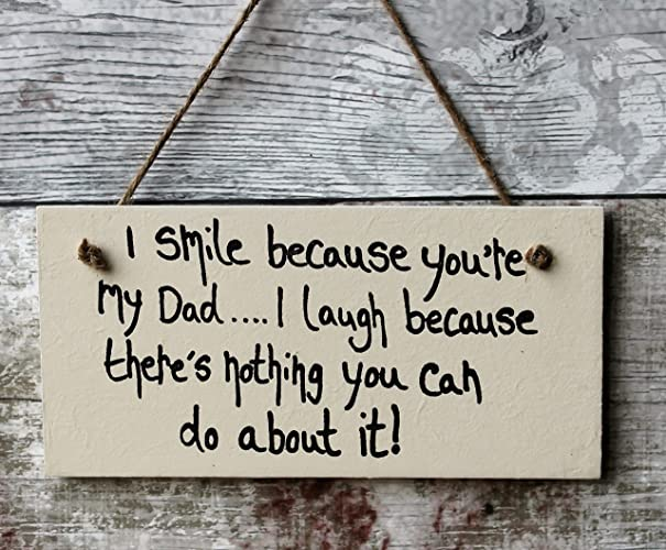 madeat94 personalized wooden plaque dadi smile because youre my dad - What Do I Get My Dad For Christmas