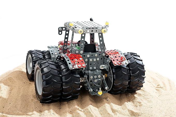 tronico Mecano, Massey Ferguson MF de 8690, Tractor con Zwilling Neumáticos, 1072 piezas, piñón libre, instrucciones de montaje Ilustradas (, incluye ...