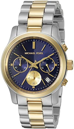 8458faa9d Michael Kors Womens Quartz Watch, Analog Display and Stainless Steel ...