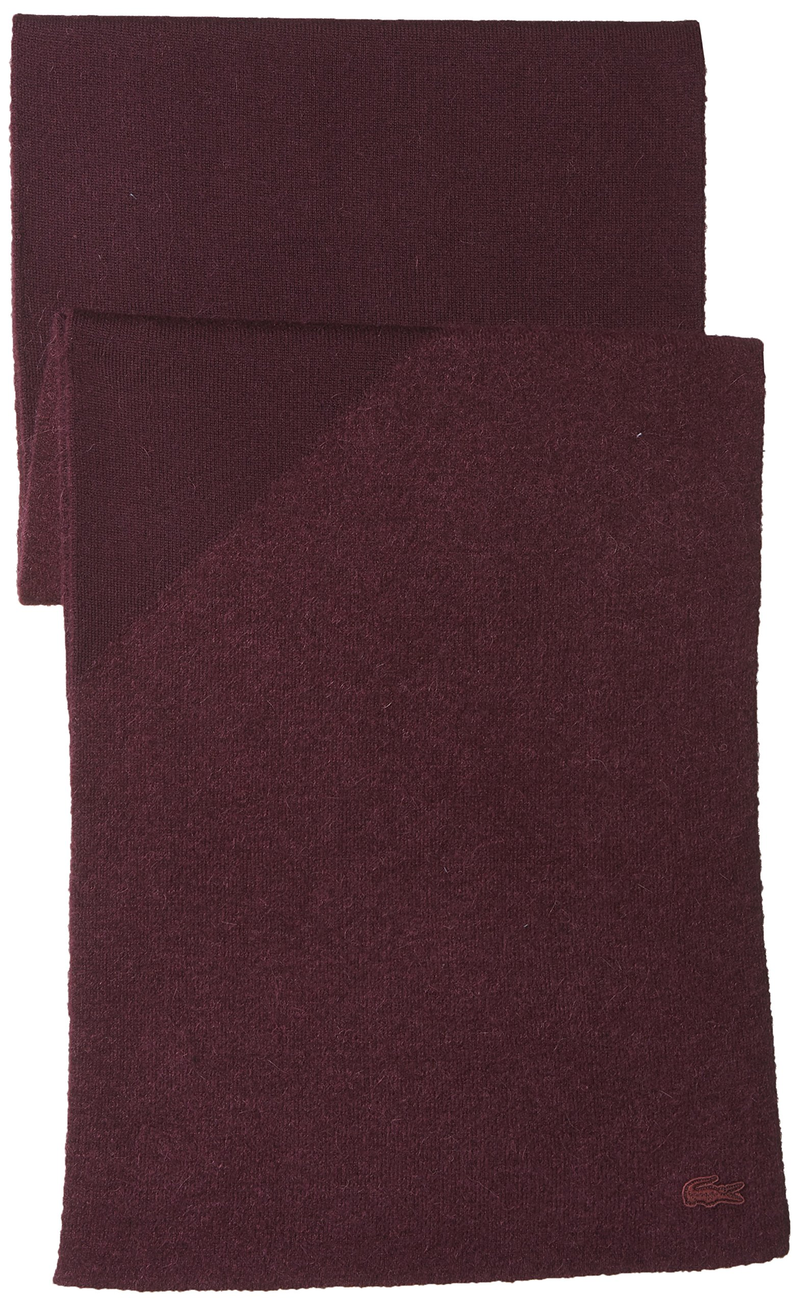 Lacoste Women's Colorblock Scarf, Vendange/Vendange, One Size