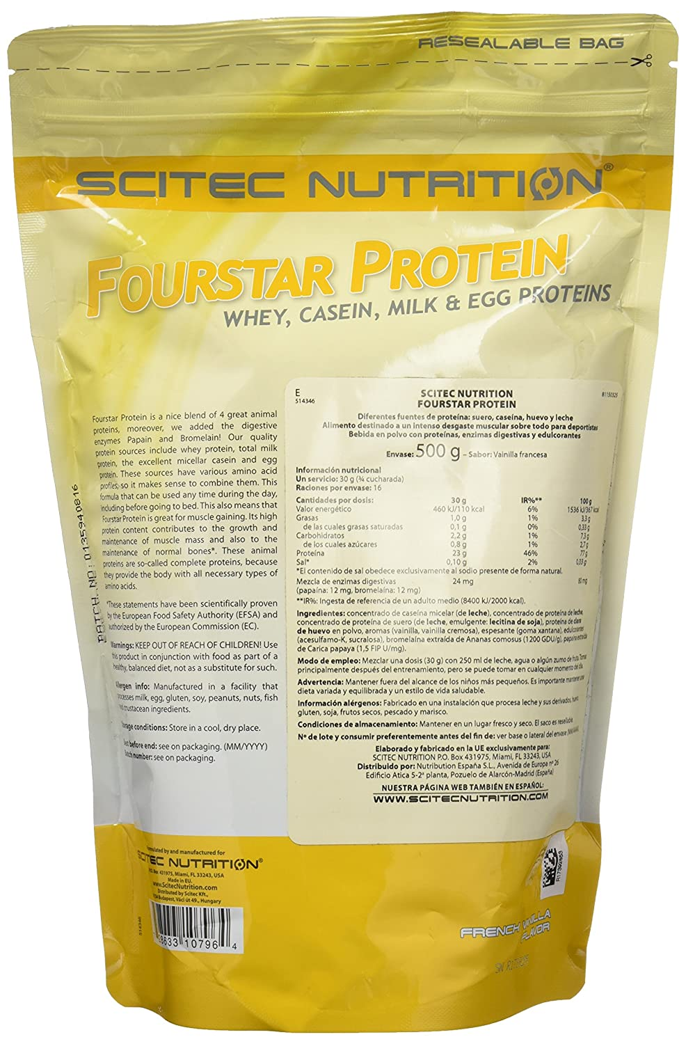 Amazon.com: FourStar Protein - 1.102 lbs - French Vanilla ...